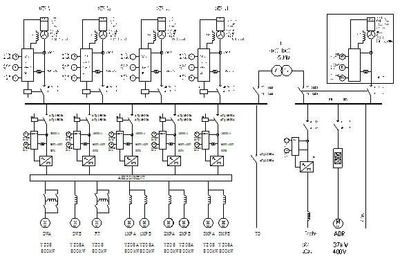Однолинейная схема SCR «один к
